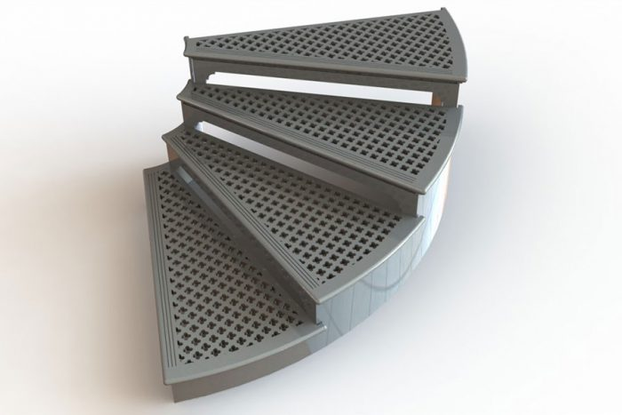 Radiused treads - elliptical staircases