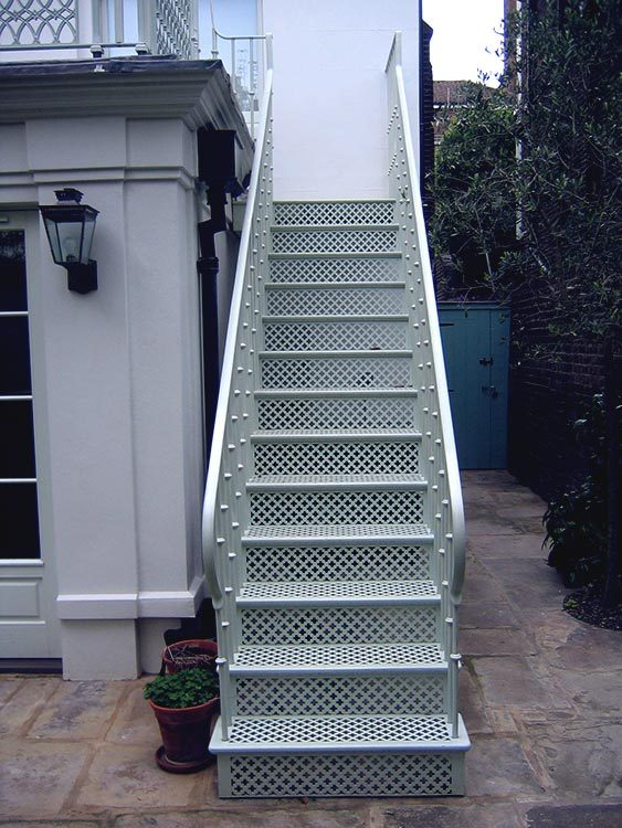 Ornate External Victorian Staircase