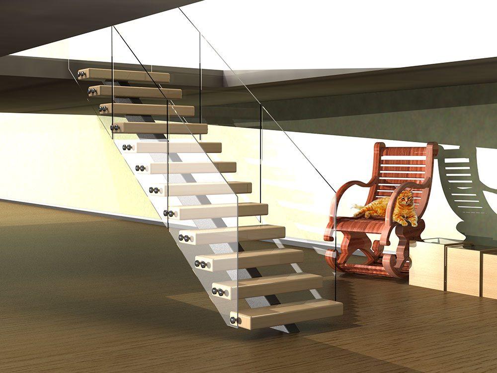 Box Center Spine Staircase