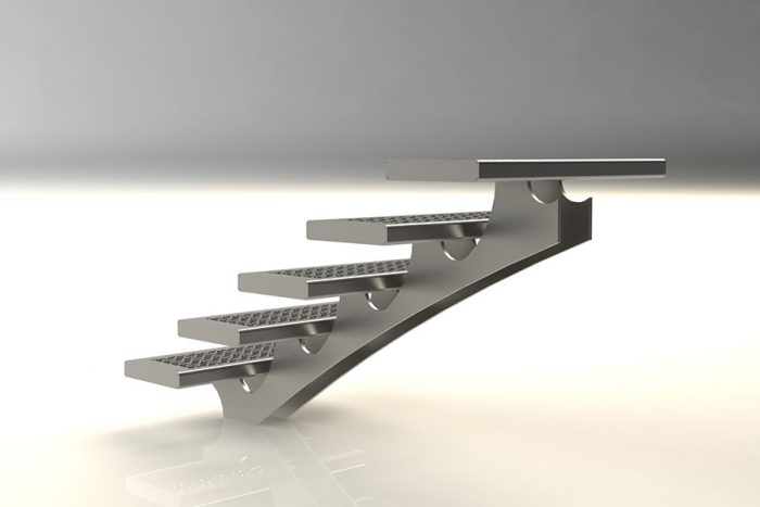 Centre spine staircase