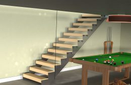 Cut String Internal Timber Tread Staircase