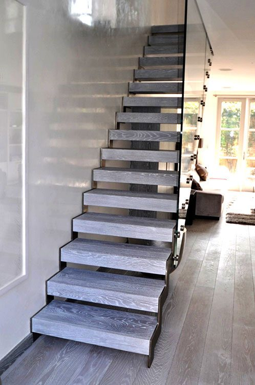 Zig Zag String Staircase – Optional Grey Finish
