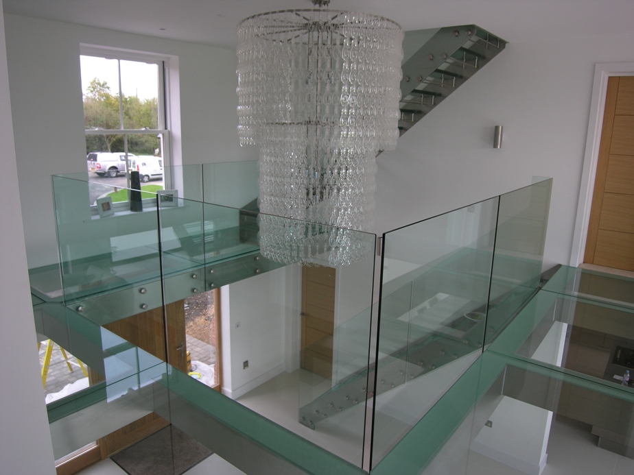 Glass staircases