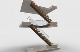 Centre Spine staircases