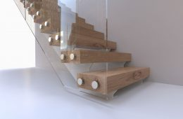Inboard string staircases